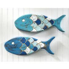 fish wall decor 7 wooden ideas for your beach house bliss woodland imports metal fish wall decor