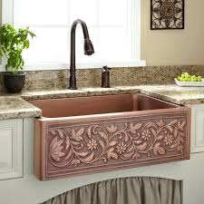 copper farmhouse kitchen sink vine design copper farmhouse sink ariellina farmhouse 14 gauge hammered copper kitchen copper farmhouse kitchen sink
