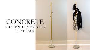 Mid Century Coat Rack Concrete Mid Century Modern Coat Rack DIY YouTube 43