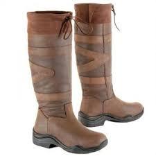 toggi canyon leather boot chocolate wide calf leg