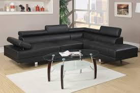 Leather Sectional Living Room Modern Contemporary Black Faux Leather Sectional Sofa Sectional
