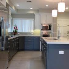 light hardwood floors in kitchen. Fine Light Modern Neutral White And Black Kitchen With Island Light  Hardwood Floors Intended In