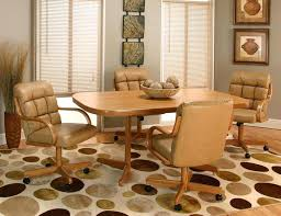 swivel kitchen chairs wheels captivating table and with casters for your design regard to prepare 5