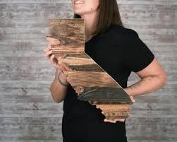 california wood sign california wall