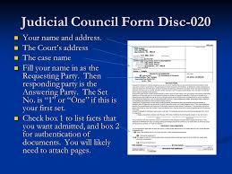 Judicial Council Form Complaint Simple Introduction To Written Discovery Ppt Video Online Download