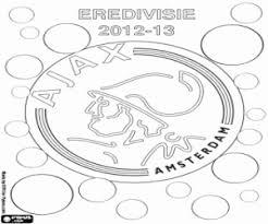 Ajax Amsterdam Champion 2012 2013 Coloring Page Printable Game