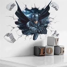 <b>Cartoon</b> Boy's Hero <b>Batman Spiderman</b> Wall Sticker For Kids Rooms ...
