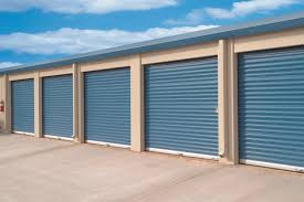 Blue Rooling Door For Garage With Many Car Can Atached In There - Exterior garage door
