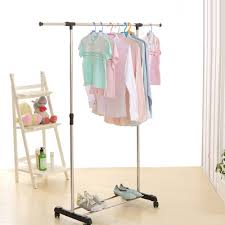 Adjustable Coat Rack Silver IKayaa Metal Adjustable Clothes Garment Coat Rack LovDock 14