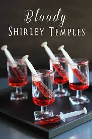 Drinks Recipe Shirley Halloween Temples Party Bloody