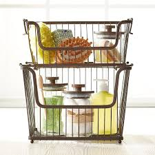 InterDesign Small Bronze York Open Wire Stackable Basket ...