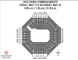 Dignity Sports Park Seating Chart Csudh Commencement Dignity Health Sports Park