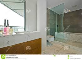 Modern Marble Bathroom Modern En Suite Marble Bathroom White Stock Photos Images