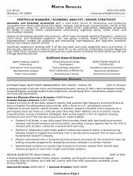 Resume Sample 18 Portfolio Manager Resume Career Resumes Examples Of