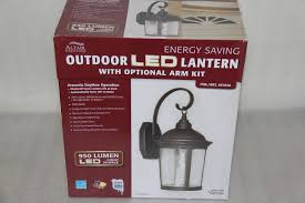altair lighting outdoor led lantern with optional arm kit altair black soft white 950 lumen bronze