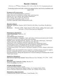 Telecommunication Resume Telecommunications Technician Resume Free Resumes