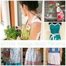 Vintage Apron Patterns Fascinating Becky Cooks Lightly 48 Free Vintage Apron Patterns