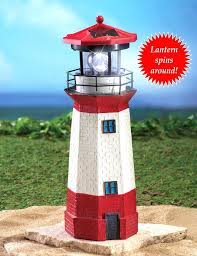 lighthouse statues for yard solar decor garden stone