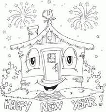 Happy New Year Coloring Pages Colortherapy New Year Coloring