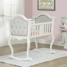 silver nursery furniture. Orbelle French White Lola Cradle Silver Nursery Furniture