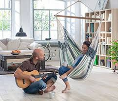 indoor hammock in living room