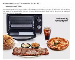Lò nướng Sunhouse SHD4210 10L - Giá để thực phẩm thép không ghỉ an toàn -  Thanh nướng kép giúp thực phẩm chính đều - Hàng chính hãng bảo hành toàn  quốc.