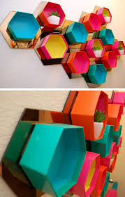 upcycle old gift boxes into stylish wall storage 32 diy storage ideas for small spaces