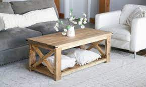 Just adjust your miter saw from zero to seven degrees for a few of the cuts, and you can create the splayed legs on this basic coffee table. 21 Homemade Coffee Table Plans You Can Diy Easily