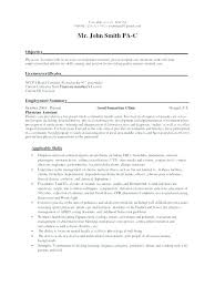 Physician Assistant Resume Examples Stunning Sample Physician Assistant Resume Example Resume Format Physician