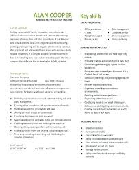 Executive Assistants Resume Administrative Assistant Template Free