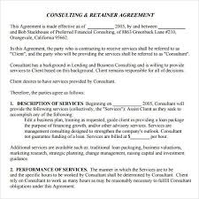 retainer consulting agreement retainer agreement for consulting services blank calendar