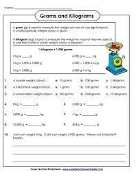 Measuring Weight Kilograms And Grams Worksheets