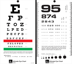 Dmv Eye Chart Distance Printable Eye Chart For Dmv Printable Free Printable