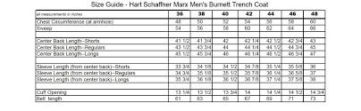 Hart Schaffner Marx Mens Burnett Trench Coat