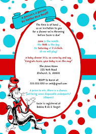 Ideas Party Hat Seuss Dr Innovative Ingenious - Showers Invitation In Shower The Cat Inspiration Invites Baby Birthday