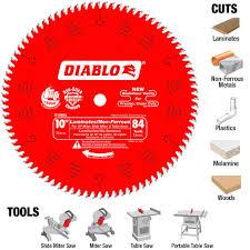 diablo 10 in x 84 teeth laminate non ferrous metal cutting saw