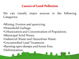 environmental pollution 20 effects of land pollutionbullthe