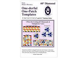 Marti Michell 60 Degree Diamond And Triangle Template Createforless