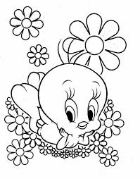 Small Picture Tweety bird coloring pages with flowers ColoringStar