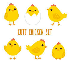 cartoon images of chickens. Simple Images Cute Cartoon Chicken Set Funny Yellow Chickens In Different Poses  Illustration Stock Vector Inside Cartoon Images Of Chickens C