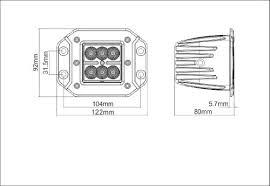nilight wiring diagram nilight image wiring diagram amazon com 6kled c418 flush mount off road lighting 18w cree on nilight wiring diagram