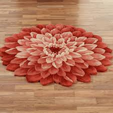 beautiful red flower rug design