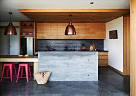 beautiful kitchen with modern wood panels