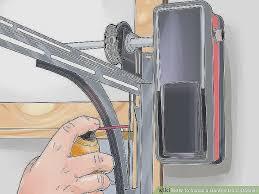 garage door springs replacement color code awesome how to install a garage door opener with wikihow