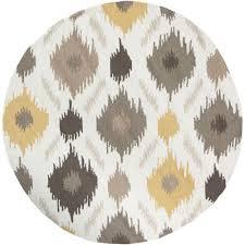 artistic weavers olivos yellow 4 ft x 4 ft round indoor area rug