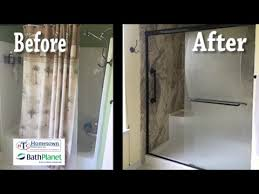 walk in shower with tub combo. tub and shower combination replaced with a walk-in - mary esther, florida youtube walk in combo s