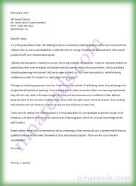 Application Letter For Secondary Teaching Position _ Secondary