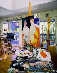 Home Art Studio Artist David Hockneys West Coast Home David Hockney Artist