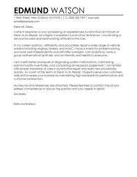 Cover Letter Auto Mechanic Eursto Com