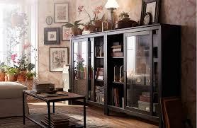 glass door cabinets living room hemnes livingroom on traditional living room ideas wall wit glass door